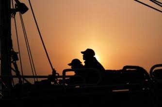魚運搬漁船作業員